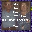 Toto's memorial to Dad and Mom