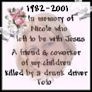 Toto's Memorial for Nicole
